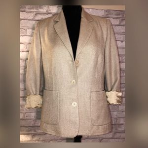 Tribal button blazer Patite Sz 8